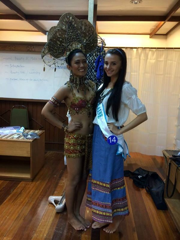 Alyssa and me during our shoot for our national costume